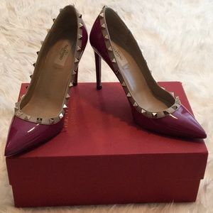 Valentino Garavani Rockstud Patent Leather Pump